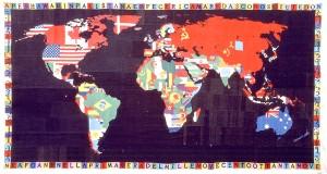 Alighiero Boetti, Mappa del Mondo, 1989